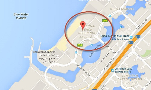 Tours attractions in dubai jbr the walk dubai location map of jbr the walk dubai gumiabroncs Gallery